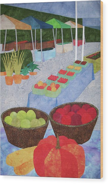 Kings Yard Farmers Market Wood Print