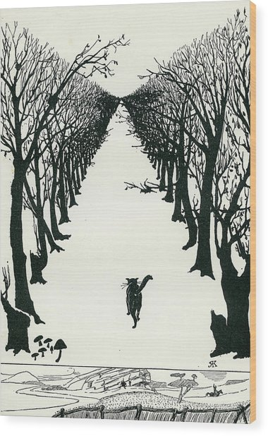 The Cat That Walked By Himself Wood Print
