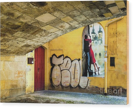Wood Print featuring the photograph Kissing Under The Bridge by Miles Whittingham