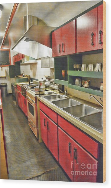 Kitchen Car Wood Print