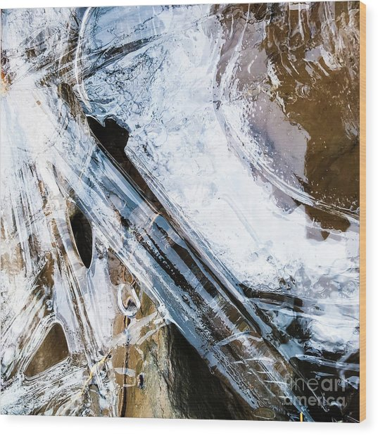 Wood Print featuring the photograph Heart Of Ice by Atousa Raissyan