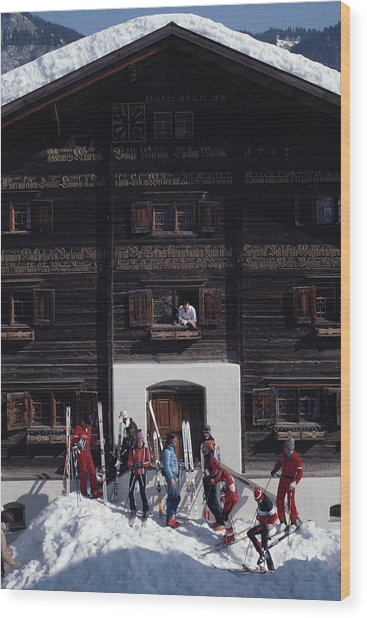 Klosters Florin House Wood Print