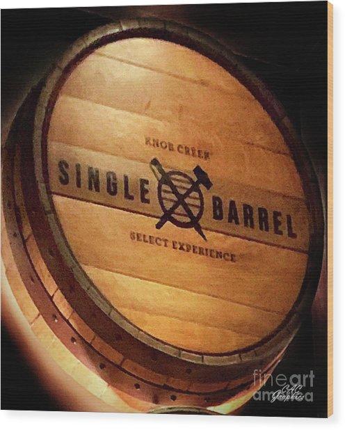 Knob Creek Barrel Wood Print