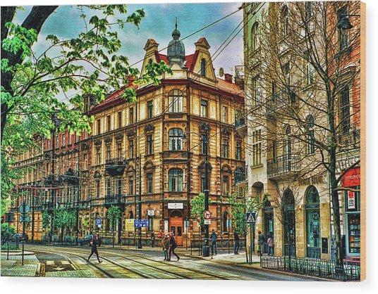 Krakow Poland Wood Print