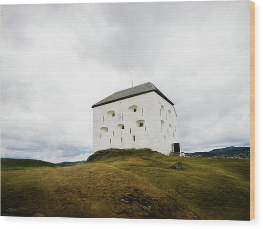 Wood Print featuring the photograph Kristiansten Fortress In Trondheim, Norway by Whitney Leigh Carlson
