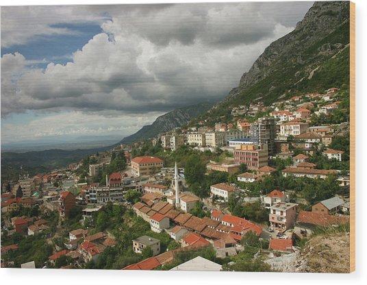 Kruja, Albania Wood Print by Azem Ramadani