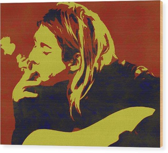 Kurt Cobain Pop Art Wood Print