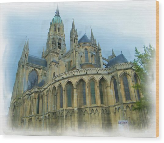 La Cathedrale De Bayeux Wood Print