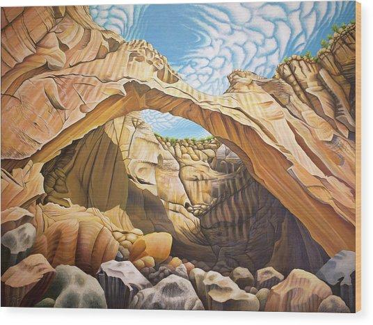 La Vantana Natural Arch Wood Print