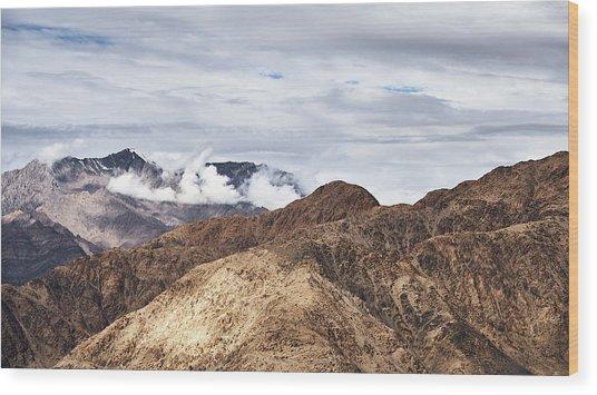 Ladakh Peaks Wood Print