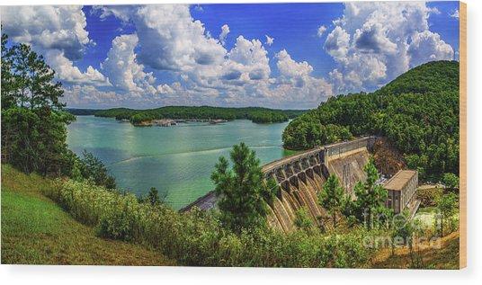 Lake Allatoona Dam Wood Print