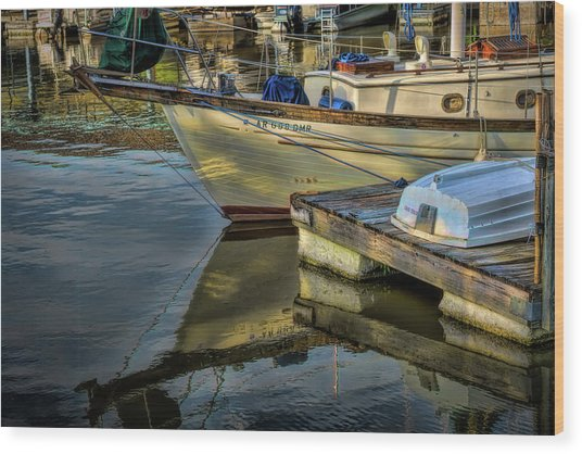 Lake Dardanelle Marina Wood Print