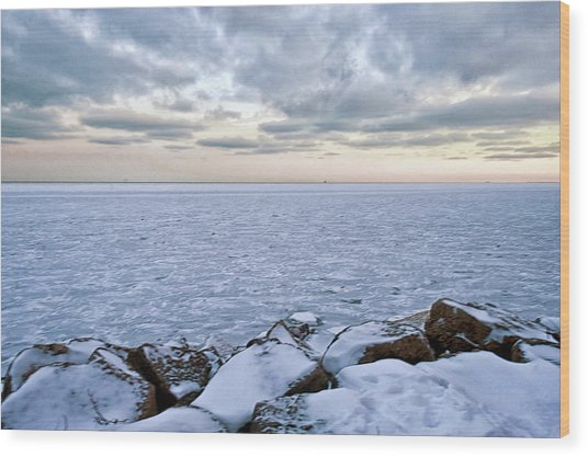 Lake Michigan Wood Print by By Ken Ilio