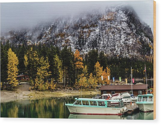 Lake Minnewanka, Banff National Park, Alberta, Canada Wood Print