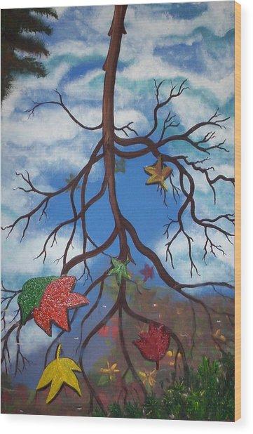 Lake Reflections - Autumn Wood Print