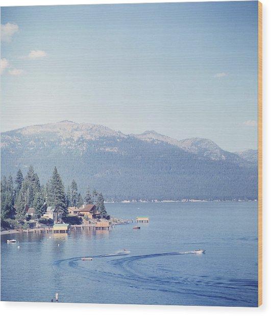 Lake Tahoe Wood Print by Slim Aarons