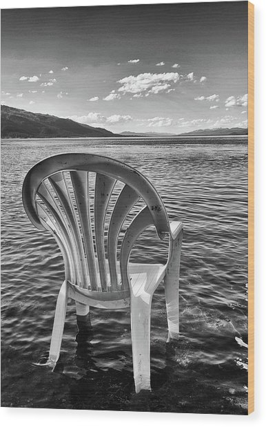 Lakeside Waiting Room Wood Print