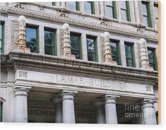 Lamar Building - Augusta Ga Wood Print