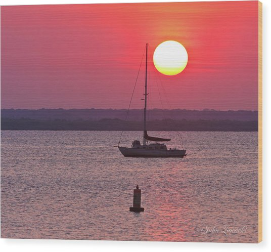 Lame Monroe Sunset-5140 Wood Print