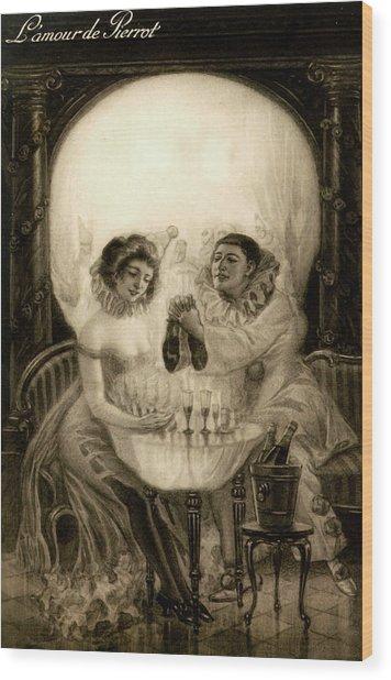 L'amour De Pierrot, 1905 Wood Print