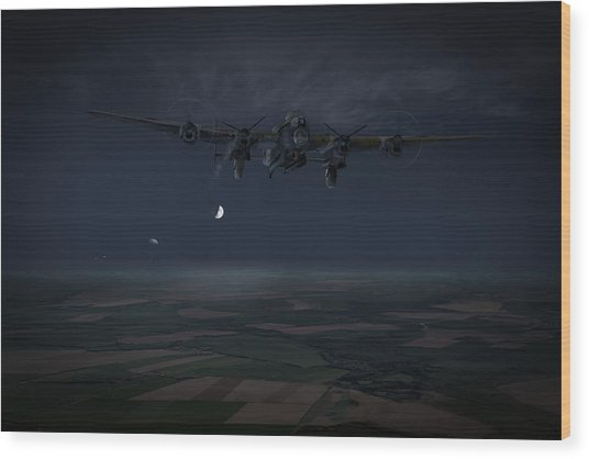 Wood Print featuring the photograph Lancaster Baleout by Gary Eason