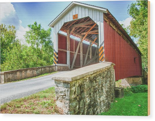 Lancaster Covered Bridge Wood Print