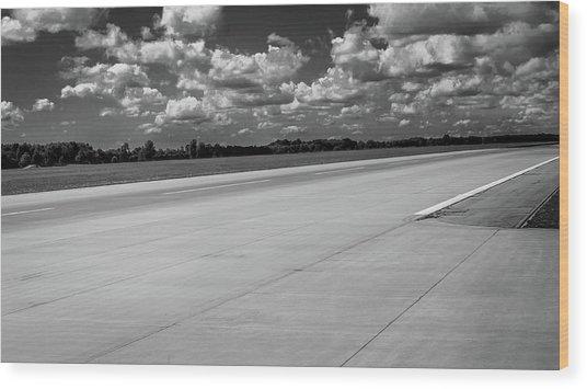 Landing Track Wood Print