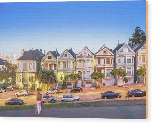 Landmark Residential House In San Wood Print by Dowell