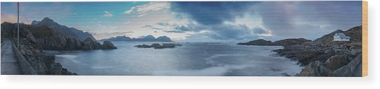 Landscape In The Lofoten Islands Wood Print