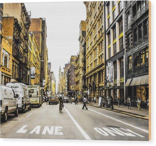 Lane Only  Wood Print
