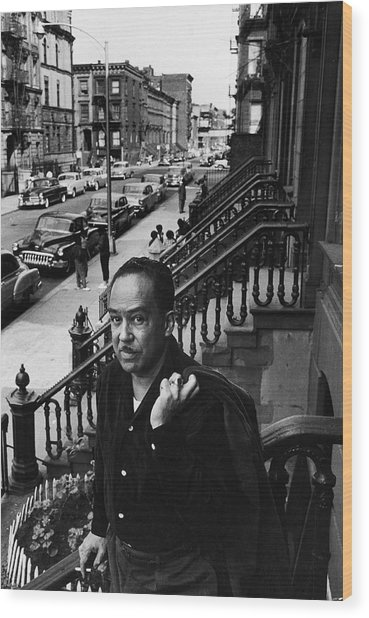 Langston Hughes On The Stoop Wood Print