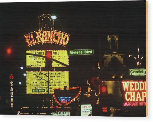 Las Vegas 1984 #13 Wood Print