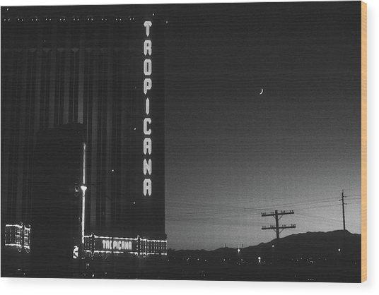 Las Vegas 1984 Bw #1 Wood Print