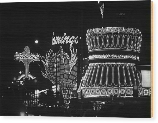 Las Vegas 1984 Bw #2 Wood Print