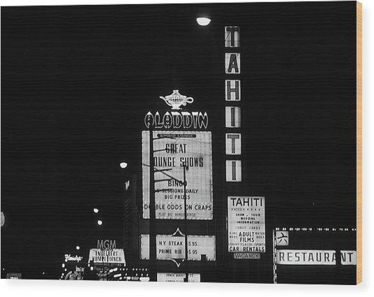 Las Vegas 1984 Bw #4 Wood Print