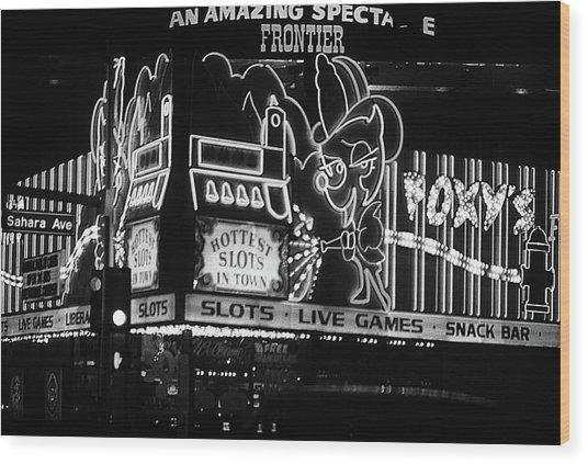 Las Vegas 1984 Bw #5 Wood Print