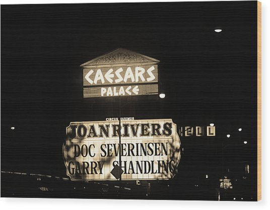 Las Vegas 1984 Sepia #10 Wood Print