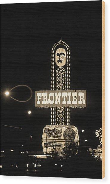 Las Vegas 1984 Sepia #12 Wood Print