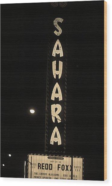 Las Vegas 1984 Sepia #14 Wood Print