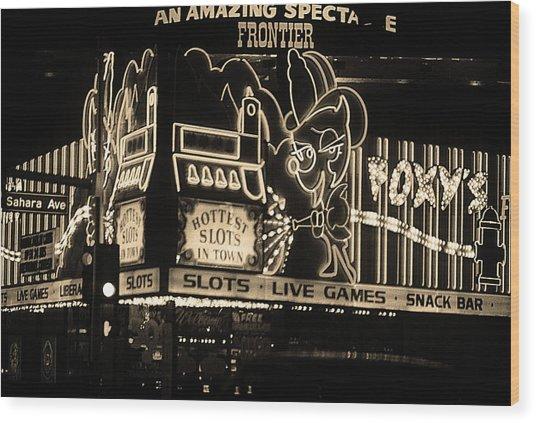 Las Vegas 1984 Sepia #5 Wood Print