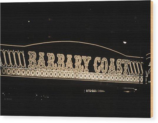 Las Vegas 1984 Sepia #8 Wood Print