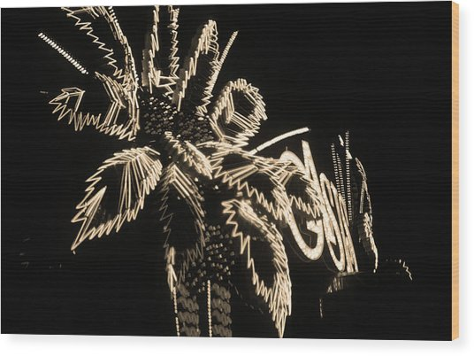 Las Vegas 1984 Sepia #9 Wood Print
