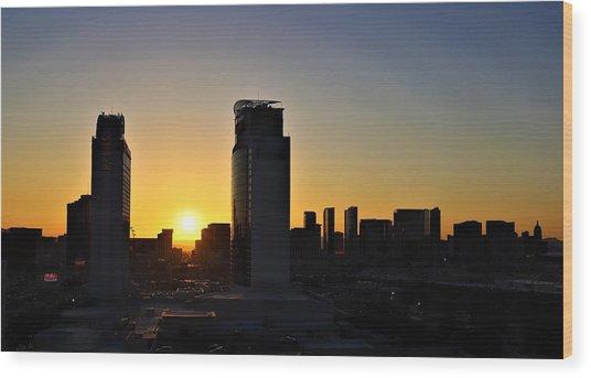 Las Vegas Sunrise Wood Print