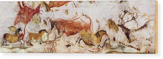 Lascaux Cows Horses And Deer Wood Print