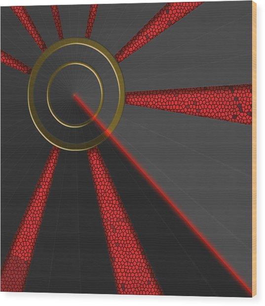 Laser Lock Sequencer Wood Print