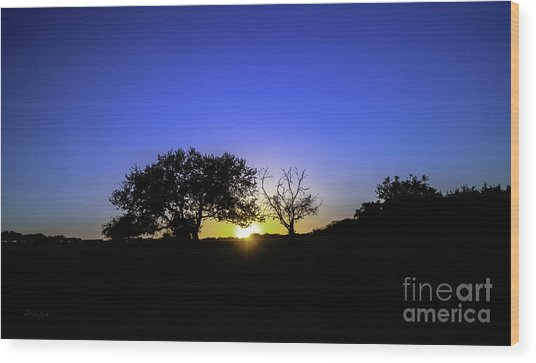 Last Light Texas Hill Country Paradise Canyon Sunset 8053a Wood Print