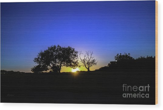 Last Light Texas Hill Country Paradise Canyon Sunset 8053a1 Wood Print