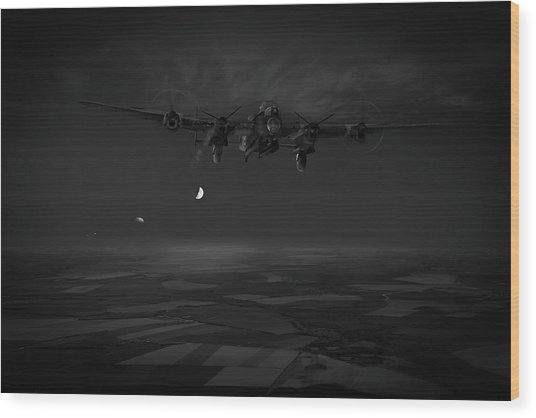 Wood Print featuring the photograph Last Man Out Bw Version by Gary Eason