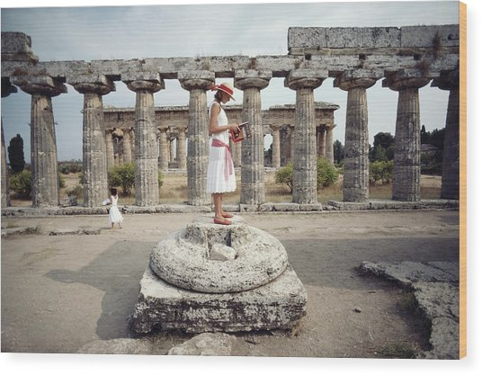 Laura Hawk In Paestum Wood Print