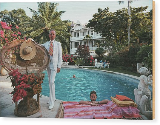 Lawrence Peabody II Wood Print by Slim Aarons